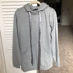 Grey Over-Sized Hoodie